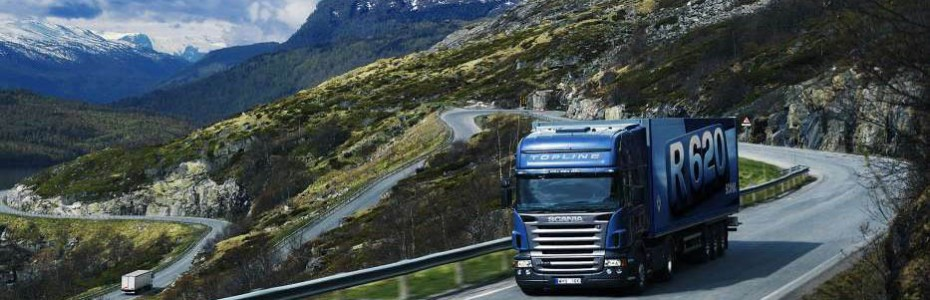 Cartel de camiones